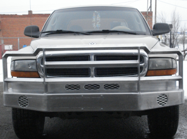 Front aluminum bumper on Dodge