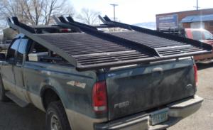 custom snowmobile rack for truck bed