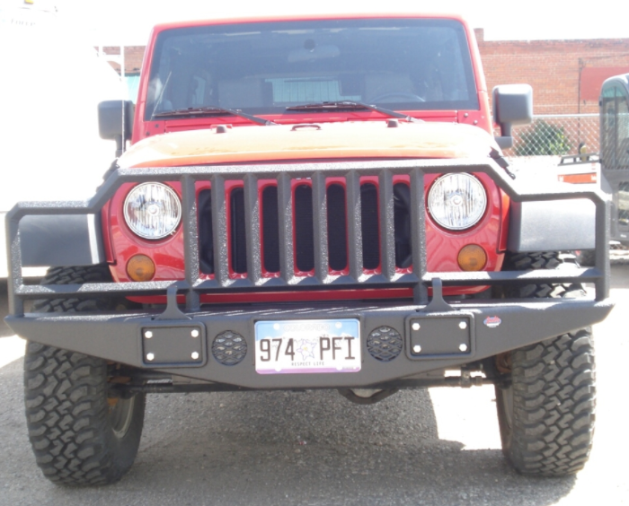 red jeep custom bumper