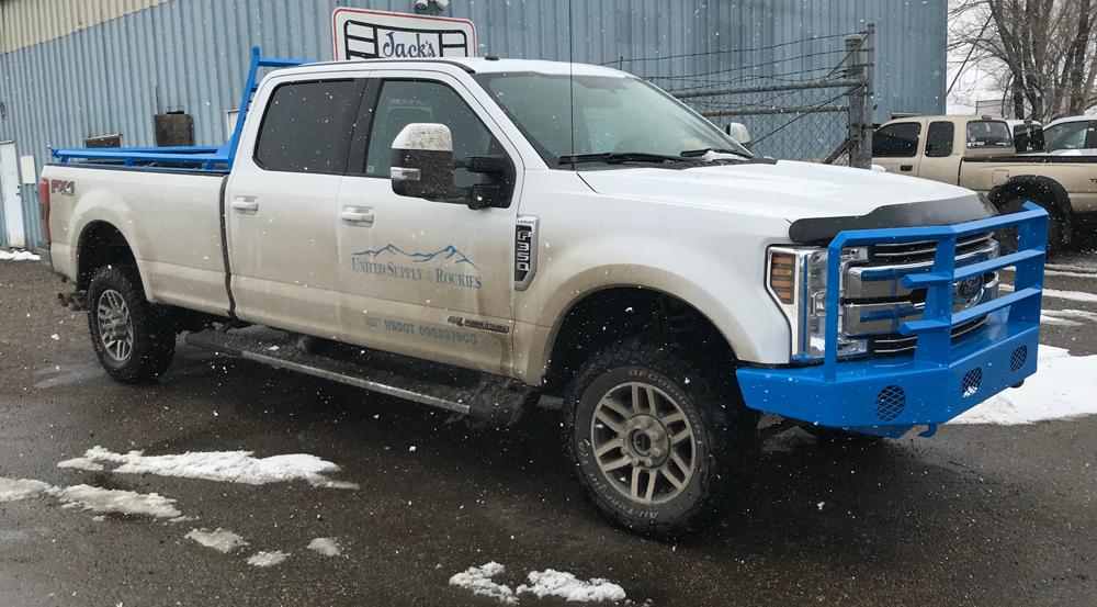 Custom Bumper Ford Utility Truck