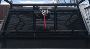 custom headache rack winch mount