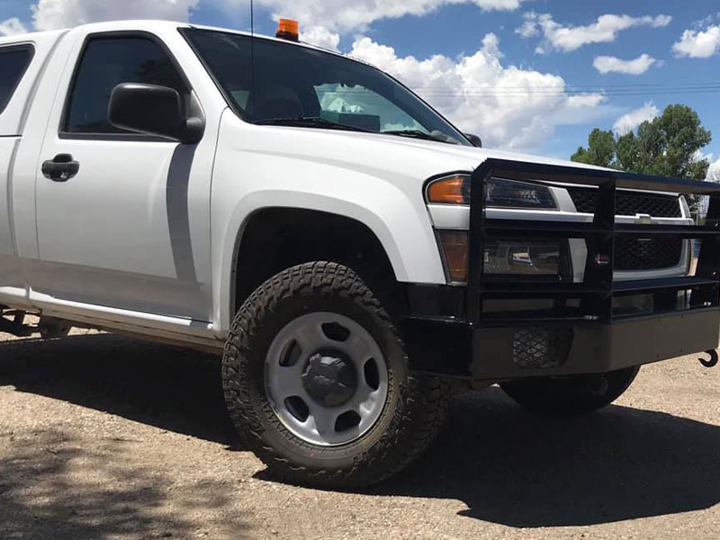 2012 Chevy Colorado truck with custom bumper