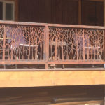 custom metal railing rust finish