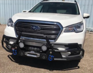 Subaru Ascent with partial bumper winch and LED lights